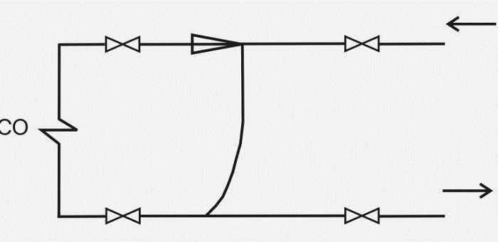 Упрощенная схема теплового узла до реконструкции